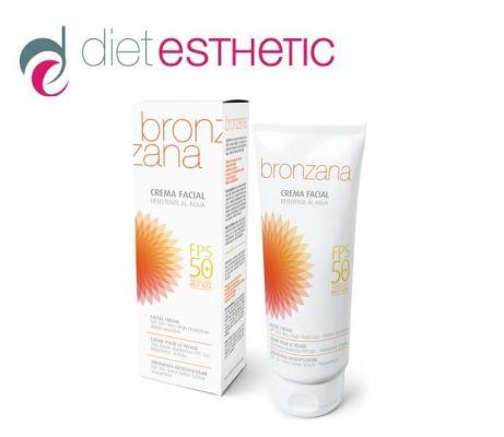 BRONZANA - Слънцезащитен крем за лице с много висок фактор SPF50+, 75 ml