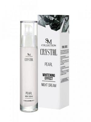 Нощен крем за лице с Перли - 100% натурален, 50 ml