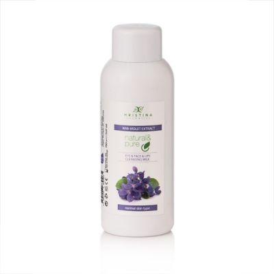 Тоалетно мляко за почистване на лице, очи и устни с екстракт от Теменужка, 150 ml