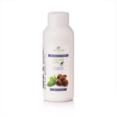 Тоалетно мляко за почистване на лице, очи и устни с екстракт от Лешник, 150 ml