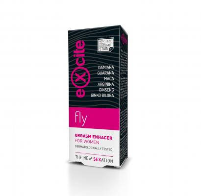 EXCITE WOMAN FLY - стимулиращ, подсилващ оргазма гел за жени Diet Esthetic, 15 ml