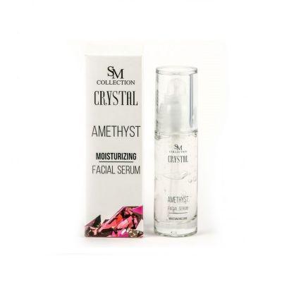 Серум за лице Sezmar Collection, 30 ml - с прах от Аметисти, за трайна хидратация