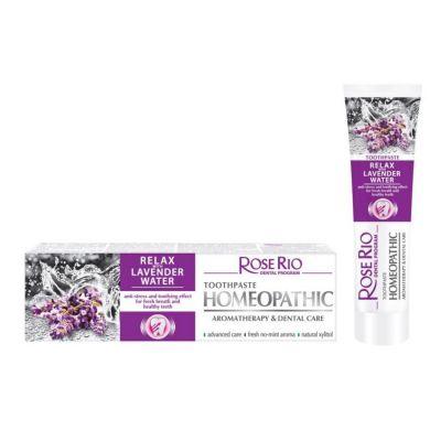 Хомеопатична паста за зъби Rose Rio Relax, 65 ml - с органична Лавандулова вода