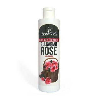 Душ-гел за коса и тяло Stani Chef's Body Food, 250 ml - Българска роза