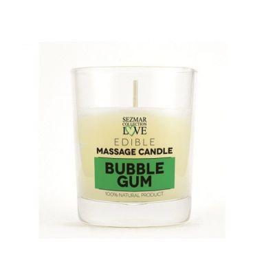 Афродизиакална масажна свещ - Дъвка, 100 ml