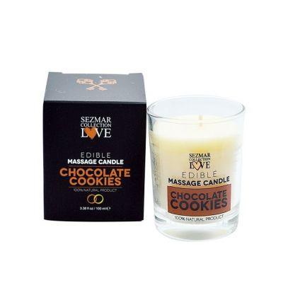 Афродизиакална масажна свещ - Шоколадови бисквитки, 100 ml
