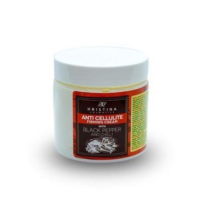 Aнтицелулитен крем Козметика Христина, 200 ml - с Черен Пипер и Чили