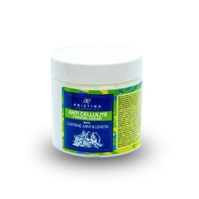 Aнтицелулитен крем Козметика Христина, 200 ml - с Кофеин, Мента и Лимон
