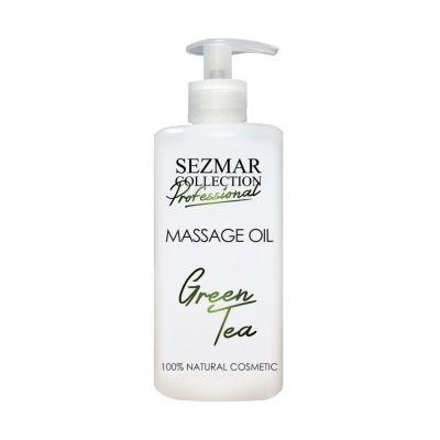 Професионално масажно масло за тяло Sezmar Professional, 500 ml - Зелен чай