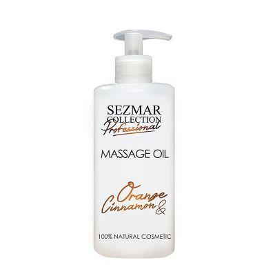 Професионално масажно масло за тяло Sezmar Professional, 500 ml - Портокал & Канела