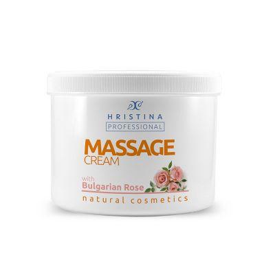 Професионален масажен крем за тяло Козметика Христина, 500 ml - Роза