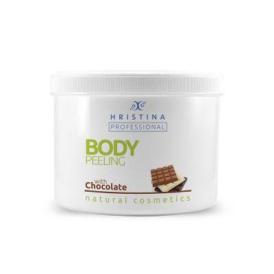 Професионален пилинг за тяло Козметика Христина, 500 ml - Шоколад