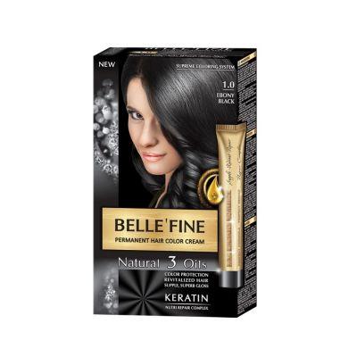 Крем-боя за коса Belle`Fine № 1.0 - абаносово-черно