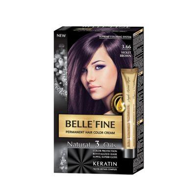 Крем-боя за коса Belle`Fine № 3.66 - виолетово-кафяв