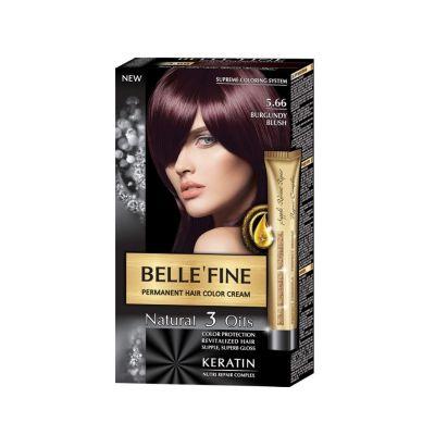 Крем-боя за коса Belle`Fine № 5.66 - бургундово червен