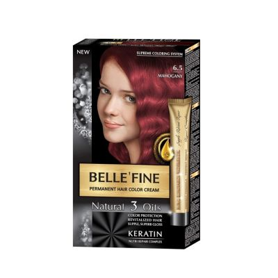 Крем-боя за коса Belle`Fine № 6.5 - махагон