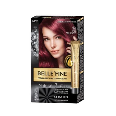 Крем-боя за коса Belle`Fine № 6.6 - тъмен махагон