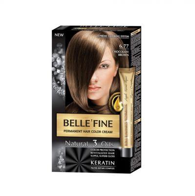 Крем-боя за коса Belle`Fine № 6.77 - шоколадово-кафяв