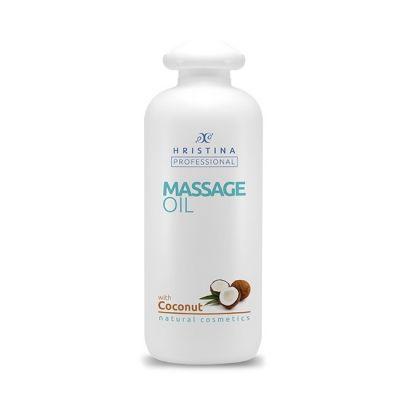 Професионално масажно масло за тяло Козметика Христина, 500 ml - Кокос