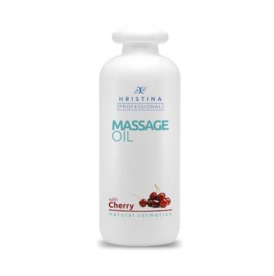 Професионално масажно масло за тяло Козметика Христина, 500 ml - Череша