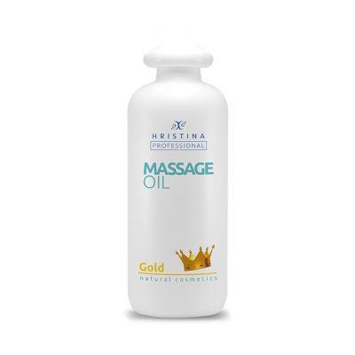 Професионално масажно масло за тяло Козметика Христина, 500 ml - Злато