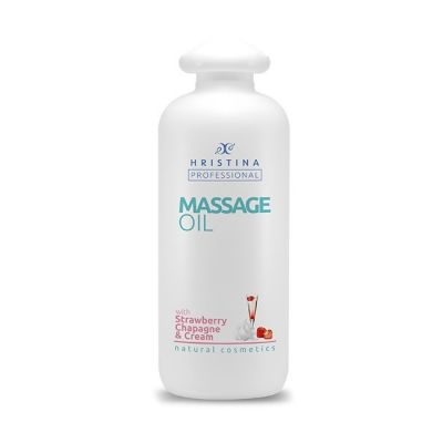 Професионално масажно масло за тяло Козметика Христина, 500 ml - Ягоди, Шампанско и Сметана