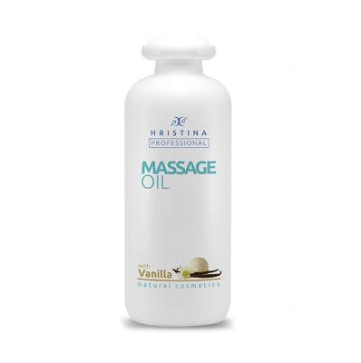 Професионално масажно масло за тяло Козметика Христина, 500 ml - Ванилия