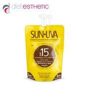 SUN UVA SPF-15 - слънцезащитен мини-лосион за тяло, меланин-активатор, със среден защитен фактор, 35 ml